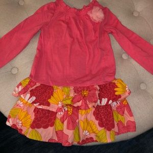Cotton dress with floral pattern